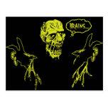 El zombi quiere cerebros postal