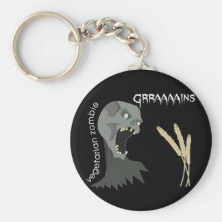 ¡El zombi vegetariano quiere Graaaains! Llavero Redondo Tipo Pin