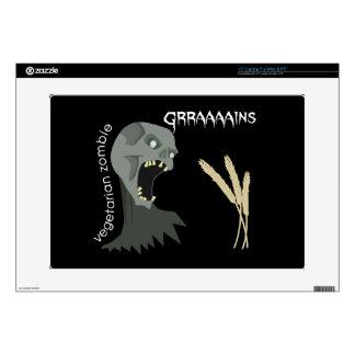 ¡El zombi vegetariano quiere Graaaains! Portátil Skin