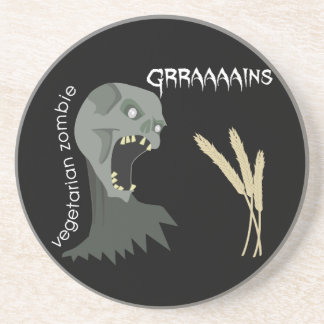 ¡El zombi vegetariano quiere Graaaains! Posavasos Diseño