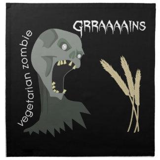 ¡El zombi vegetariano quiere Graaaains! Servilletas