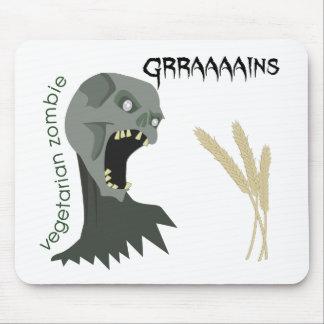 ¡El zombi vegetariano quiere Graaaains! Tapete De Ratones