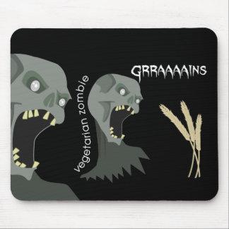 ¡El zombi vegetariano quiere Graaaains! Mouse Pad