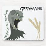 ¡El zombi vegetariano quiere Graaaains! Alfombrillas De Raton