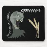¡El zombi vegetariano quiere Graaaains! Tapete De Raton