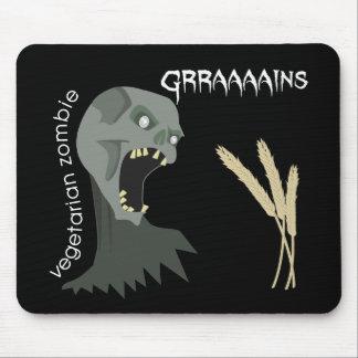 ¡El zombi vegetariano quiere Graaaains! Alfombrillas De Ratones