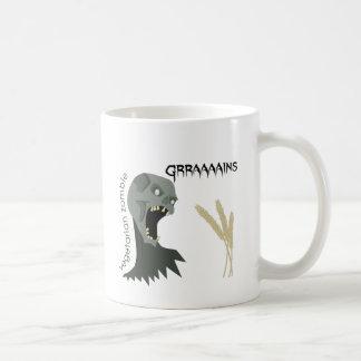 ¡El zombi vegetariano quiere Graaaains! Taza De Café