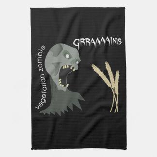 ¡El zombi vegetariano quiere Graaaains! Toallas De Mano