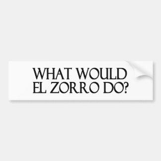 El Zorro Bumper Sticker