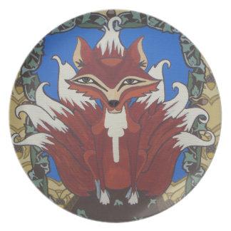 El zorro con nueve colas platos de comidas