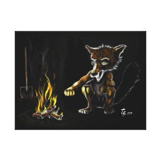 El zorro dice, nada impresión en lona