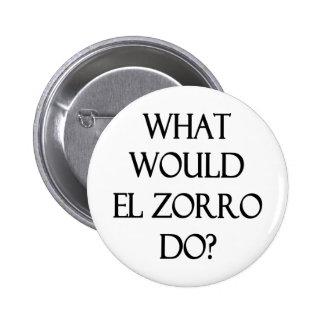 EL Zorro Pin Redondo De 2 Pulgadas