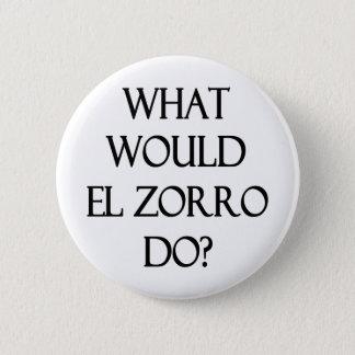 El Zorro Pinback Button
