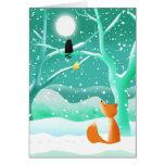 El zorro y el cuervo - tarjeta de felicitación