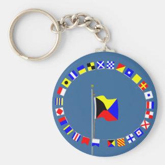 El Zulú requiere una bandera de señal náutica del  Llavero Redondo Tipo Pin