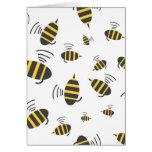El zumbido manosea el dibujo animado de la abeja felicitacion