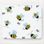El zumbido ocupado manosea las abejas Mousepad Alfombrillas De Ratón