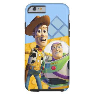 El zumbido y Woody de Toy Story Funda Para iPhone 6 Tough
