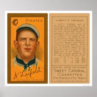 El zurdo Leifeld piratea el béisbol 1911 Póster