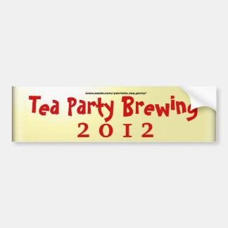 Elaboración de la cerveza de la fiesta del té pegatina para auto