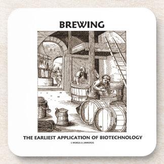 Elaboración de la cerveza del uso más temprano de  posavasos de bebidas