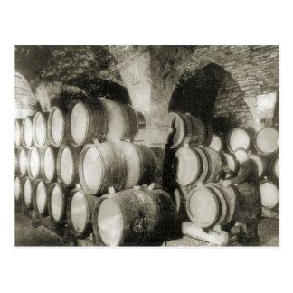Elaboración de vino 1900 2 tarjetas postales