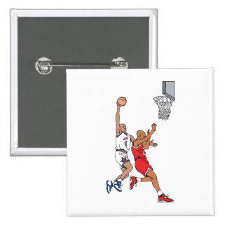 elaboración del diseño del baloncesto del tiro pin cuadrada 5 cm