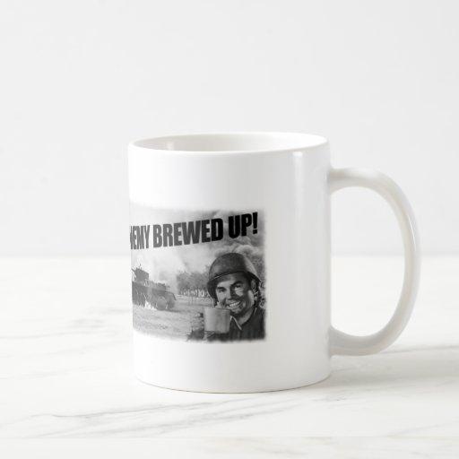 ¡Elaborado cerveza para arriba! Taza de café