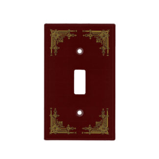 Elaborate Antique Gold Filigree Light Switch Cover