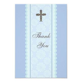 Elaborate Cross Flat Thank You Card