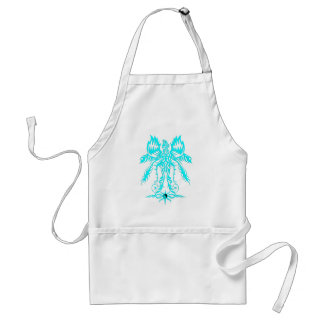 Elaborate phoenix  cyan adult apron