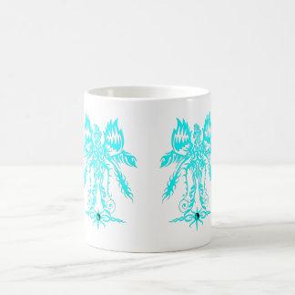 Elaborate phoenix  cyan coffee mug