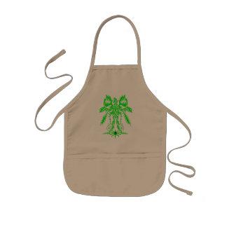 Elaborate phoenix  green kids' apron