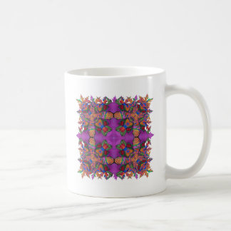 Elaborate Roses Flowers Cross vibrant colors Coffee Mug
