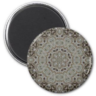 Elaborate Steampunk Mandala 2 Inch Round Magnet