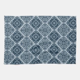 Elaborate Vintage Denim Damask.jpg Towel