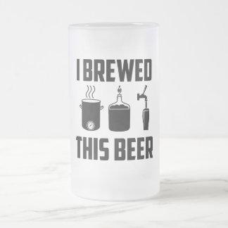 ¡Elaboré cerveza esta cerveza! Stein Taza De Cristal
