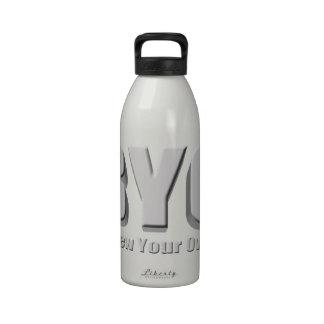 Elabore cerveza su propia cerveza botellas de agua reutilizables