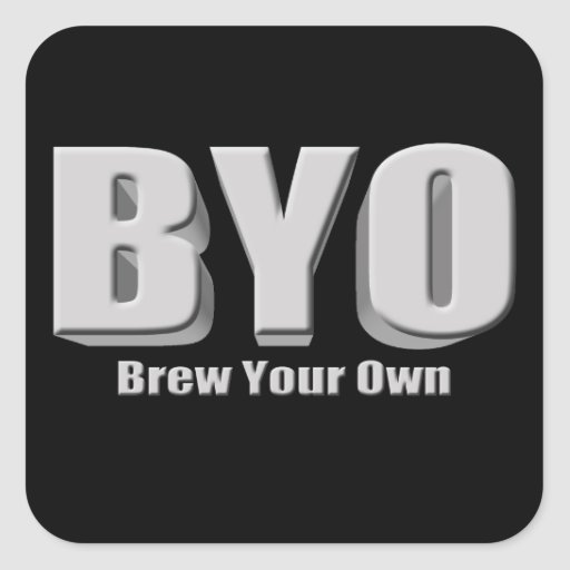 Elabore cerveza su propia cerveza colcomanias cuadradas