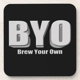 Elabore cerveza su propia cerveza posavasos de bebida