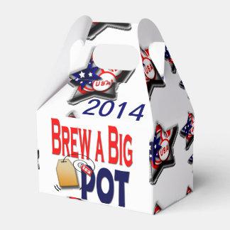 Elabore cerveza una caja grande del té del pote caja para regalo de boda