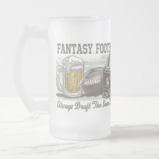 Elabore el engranaje del fútbol de la fantasía del taza cristal mate