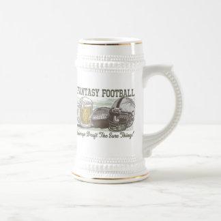 Elabore el engranaje del fútbol de la fantasía del jarra de cerveza