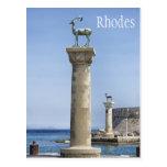 Elafos and Elafina, Entrance to Rhodes, Greece Postcard