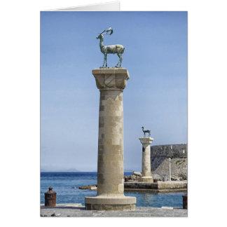 Elafos y Elafina puerto de Mandraki Rodas Grecia