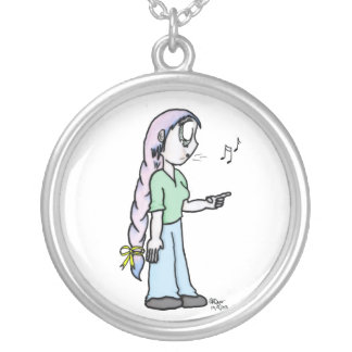 Elain the Whistler Round Pendant Necklace