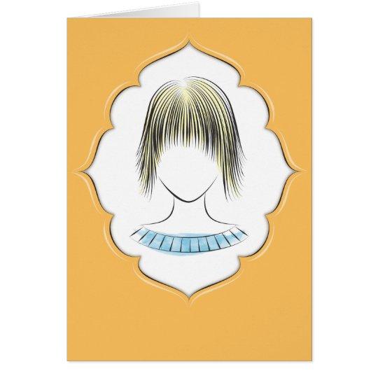 Elaine - female portrait card
