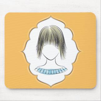 Elaine - female portrait mouse pad