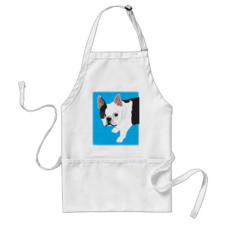 elaine scharnitzky's Boston Terrier Toby Adult Apron