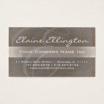 Elaine's Elegant E Shimmer Monogram Business Card
